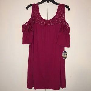 Dresses & Skirts - Cold shoulder mini dress